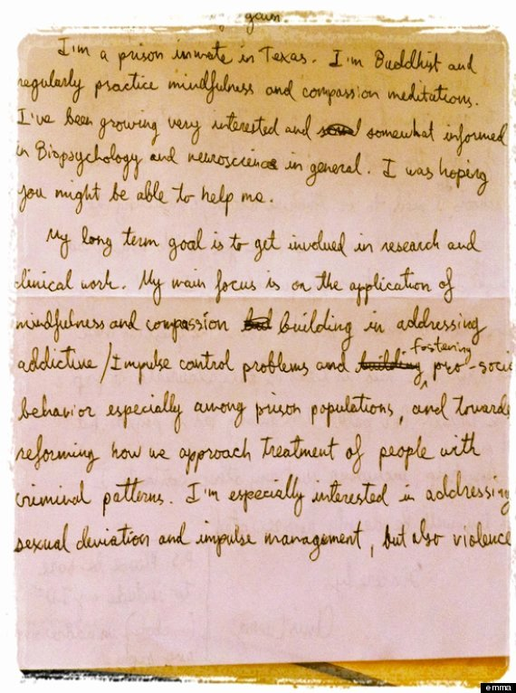 Compassion Letter Writing Template New Passion Behind Bars
