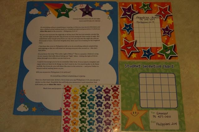 Compassion Letter Writing Template New Passion Family Shine Like Stars