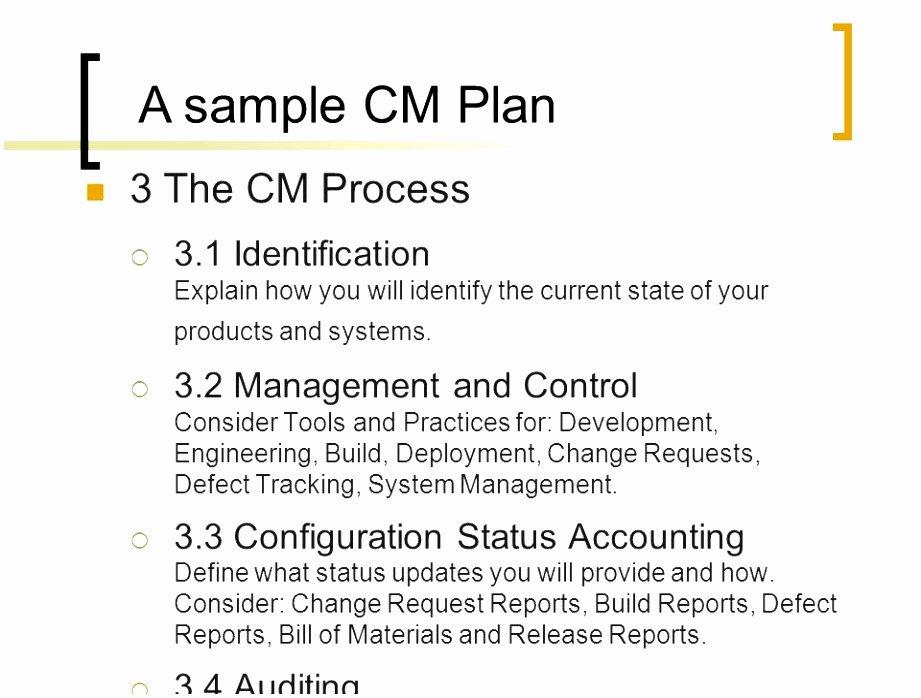 Configuration Management Plan Template Best Of 10 software Configuration Management Plan Template Spwep