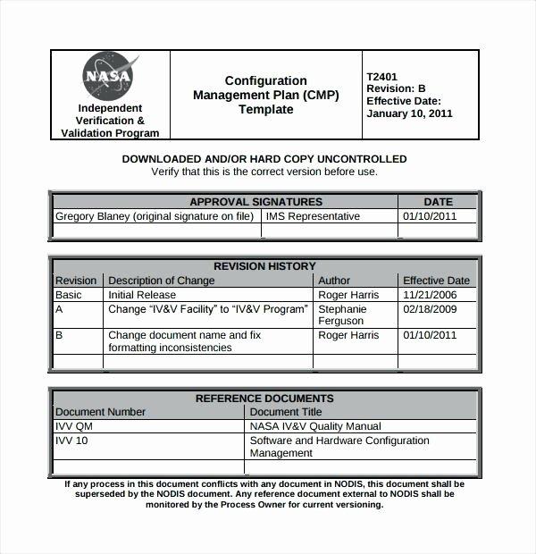 Configuration Management Plan Template Inspirational software Proposal Document Template Sample Development