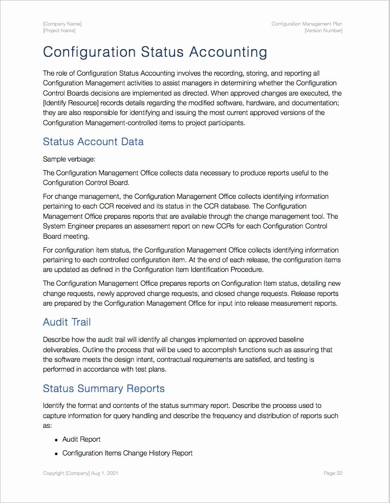 Configuration Management Plan Template Lovely Configuration Management Plan Template Apple Iwork Pages