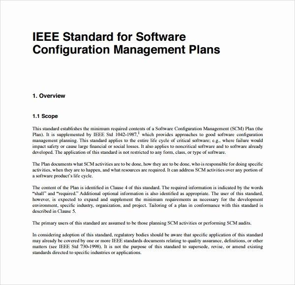 Configuration Management Plan Template Unique 9 Configuration Management Plan Templates
