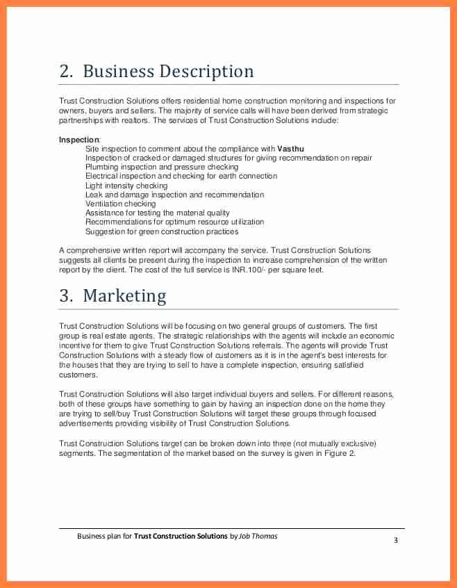 Construction Business Plan Template Best Of 10 Construction Pany Business Plan Template