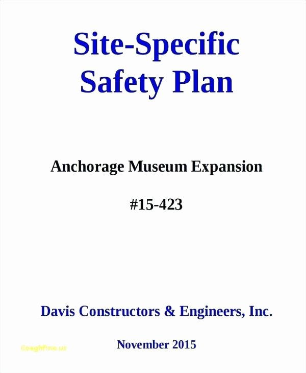 Construction Safety Plan Template Best Of Printable Construction Site Specific Safety Plan Template