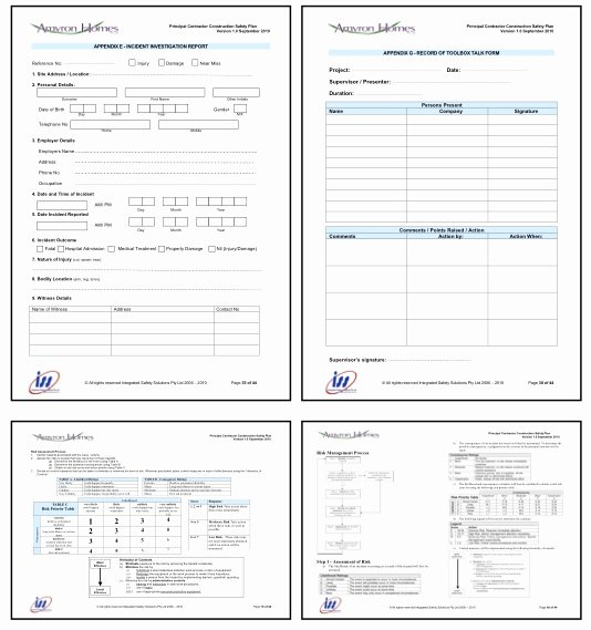 Construction Safety Plan Template Elegant 24 Of Site Safety Plan Template