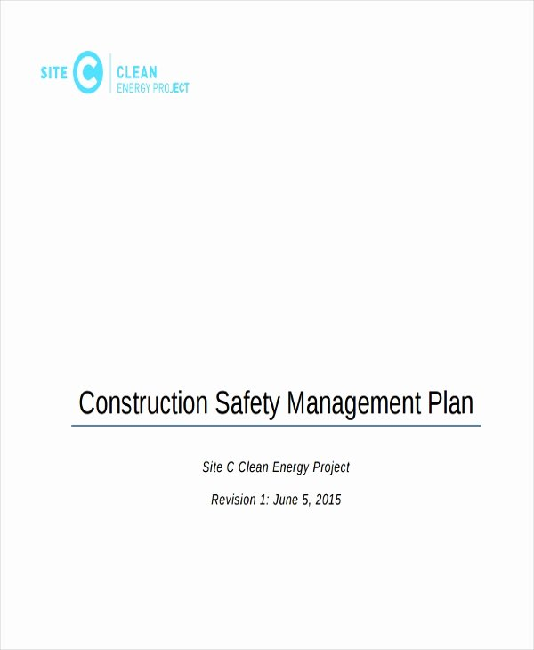 Construction Safety Plan Template Unique 29 Safety Plan Samples