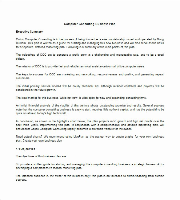 Consulting Business Plan Template Best Of Business Plan Template – 97 Free Word Excel Pdf Psd