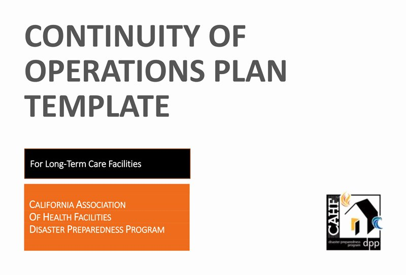 Continuity Of Operations Plan Template Awesome Cahf Continuity Of Operations Plan Template