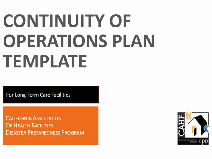 Continuity Of Operations Plan Template Elegant Preparedness tools