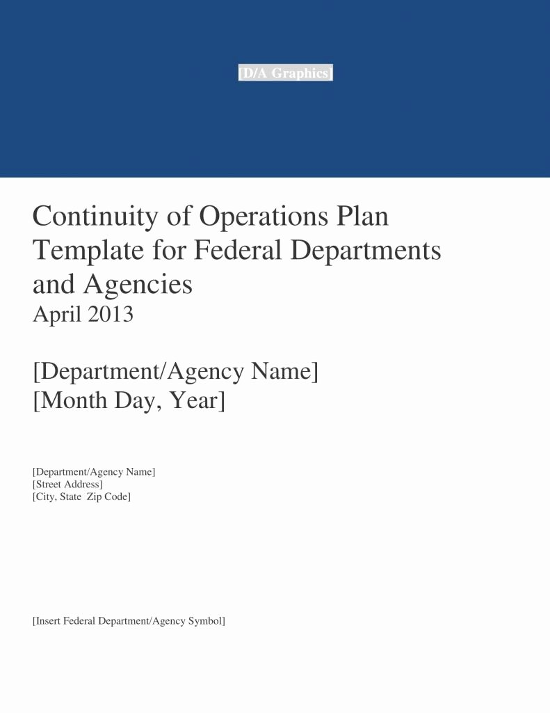 Continuity Of Operations Plan Template Inspirational Continuity Operations Plan Template Beautiful