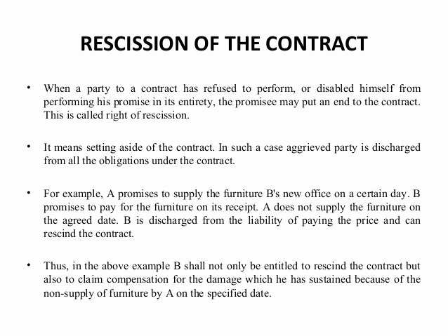 Contract Rescission Letter Beautiful Reme S for Breach Of Contract