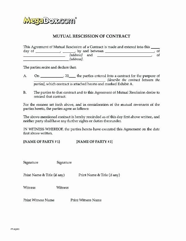Contract Rescission Letter Luxury Kinali