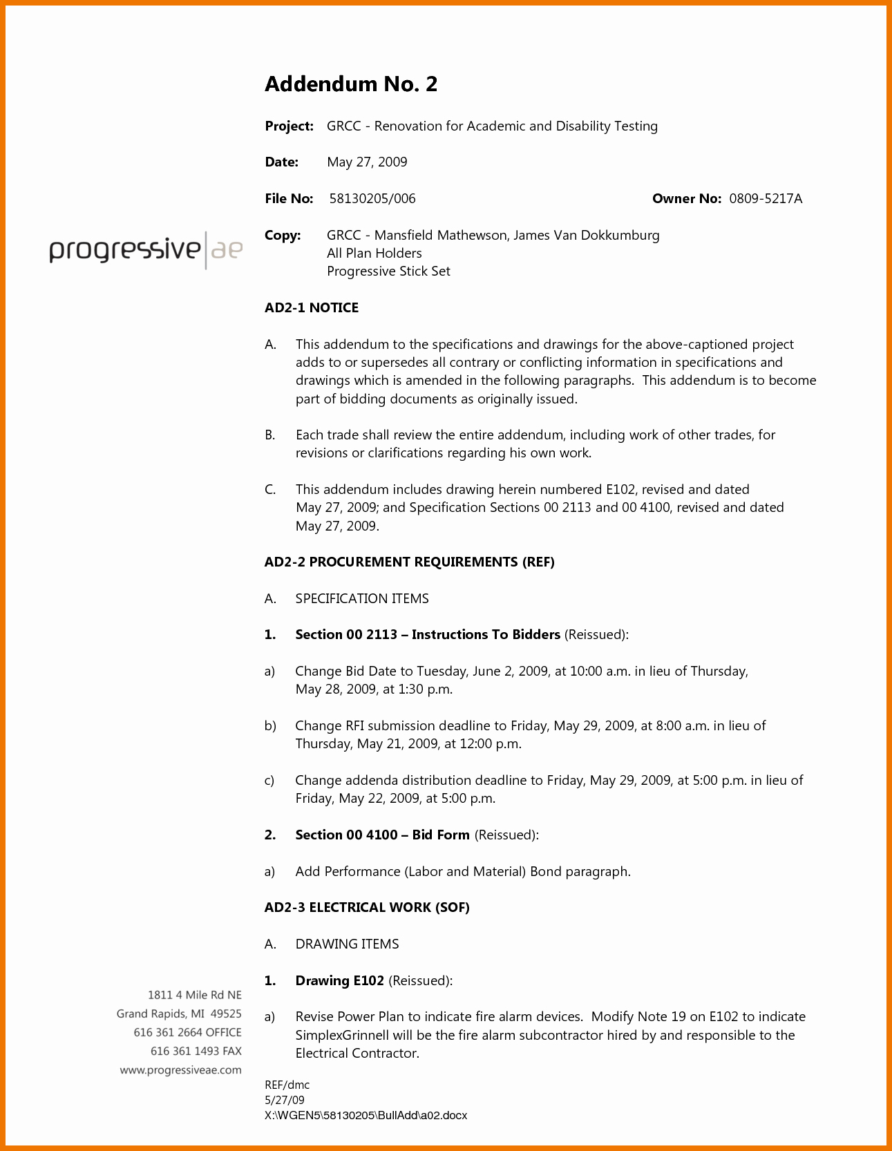 Contractor Engagement Letter Best Of Contractor Proposal Sample Free Bid Template Pdf General