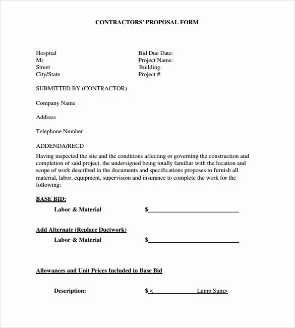 Contractor Engagement Letter Fresh Roofing Proposal Template & Roofing Contractor Proposal
