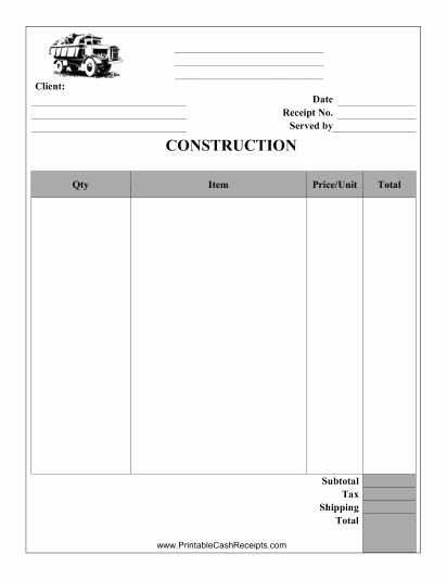 Contractor Receipt Of Payment Fresh This Construction Receipt Can Be Used by A Carpenter