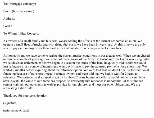 Contribution Letter for Loan Modification Sample Lovely Hardship Letter Samples 10 formats for Loan