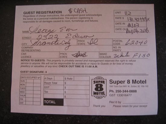 Copy Of A Receipt Awesome Super 8 by Wyndham Golden Updated 2018 Motel Reviews