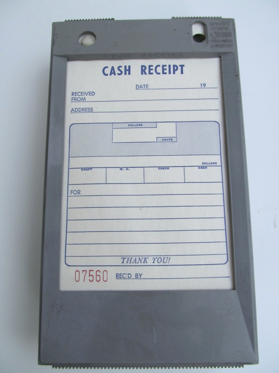 Copy Of A Receipt Best Of Vintage 1970 Carbon Copy Cash Receipt Holder