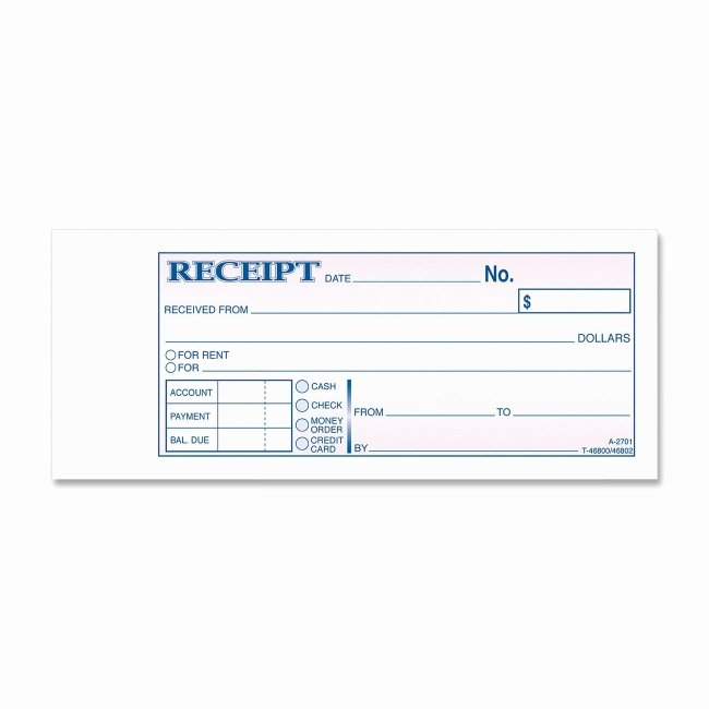 Copy Of A Receipt Fresh Adams Tc2701 Tapebound 3 Part Money Receipt Book 50 Sheet