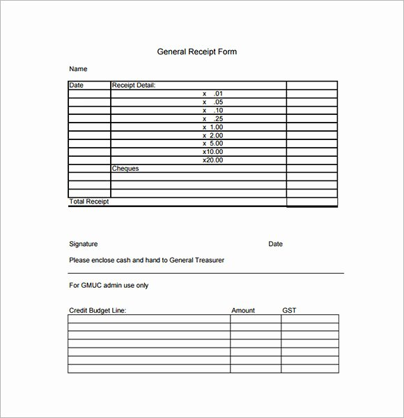 Copy Of A Receipt Lovely Sample General Receipt Template 20 Free Download for Pdf