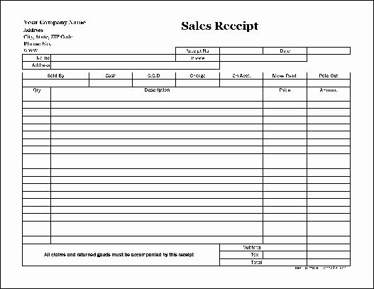 Copy Of A Receipt New Free Easy Copy Basic Sales Receipt Wide From formville