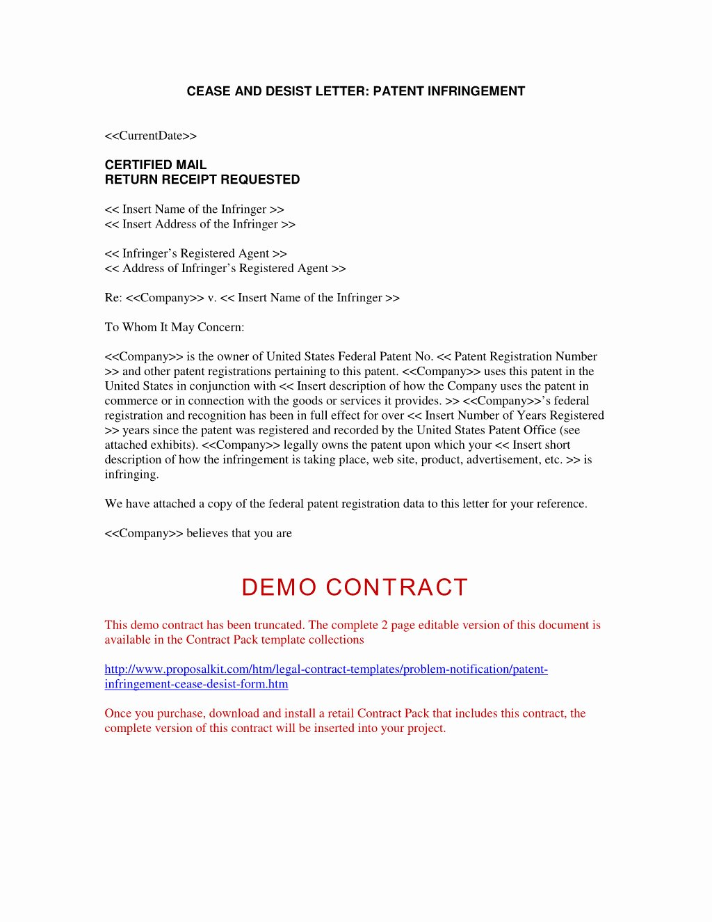 Copyright Cease and Desist Letter Inspirational Cease and Desist Letter Patent Infringement Template