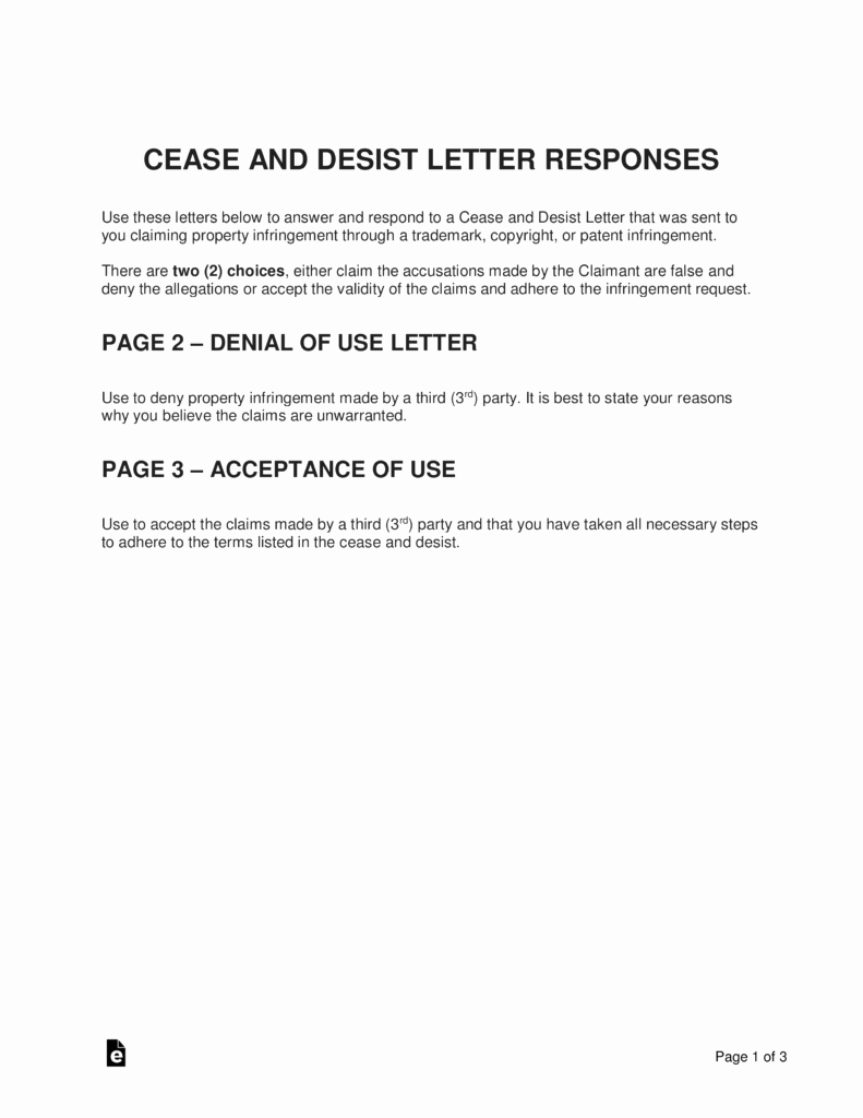 Copyright Cease and Desist Letter Luxury Sample Response to Copyright Infringement Letter