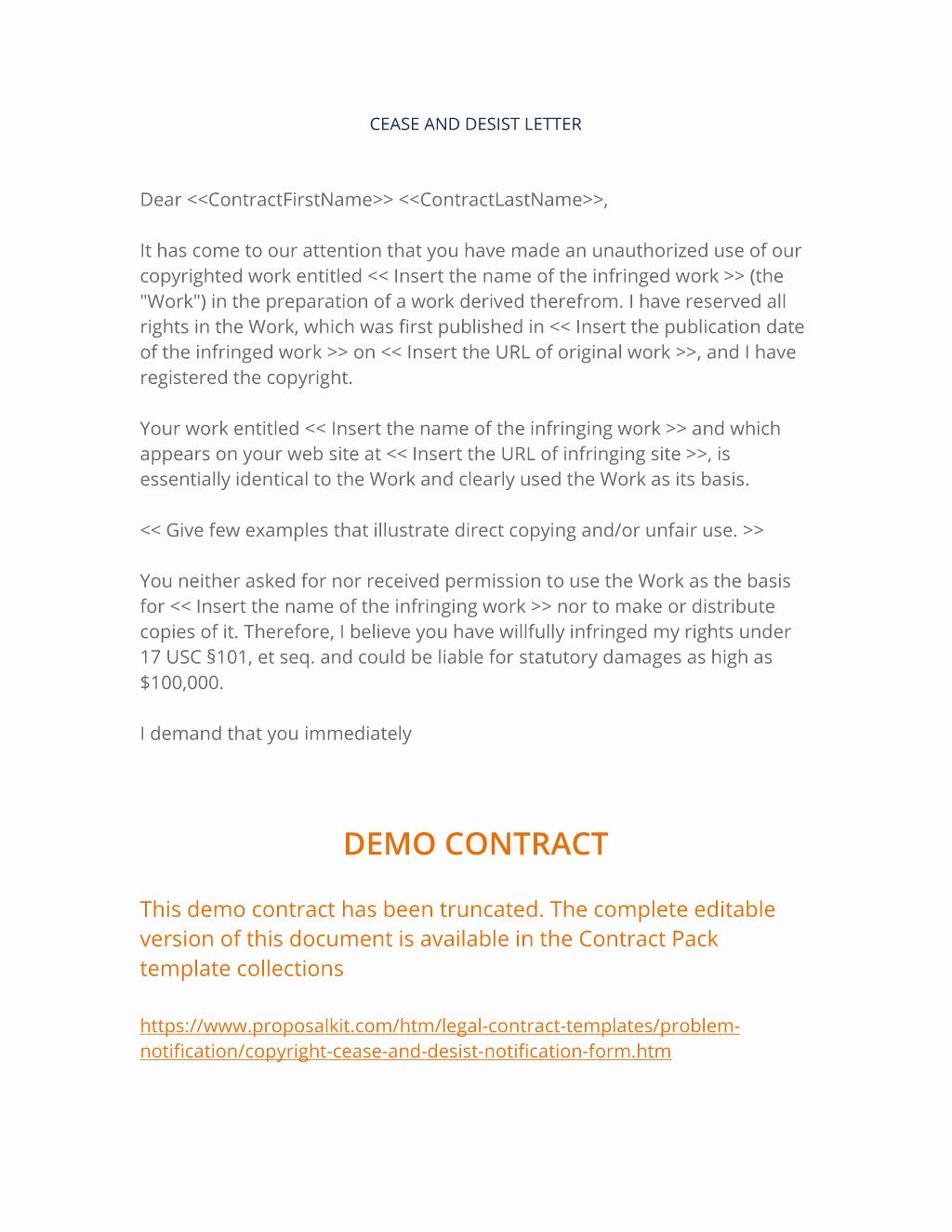 Copyright Cease and Desist Letter Unique How to Write Your Own Copyright Cease and Desist