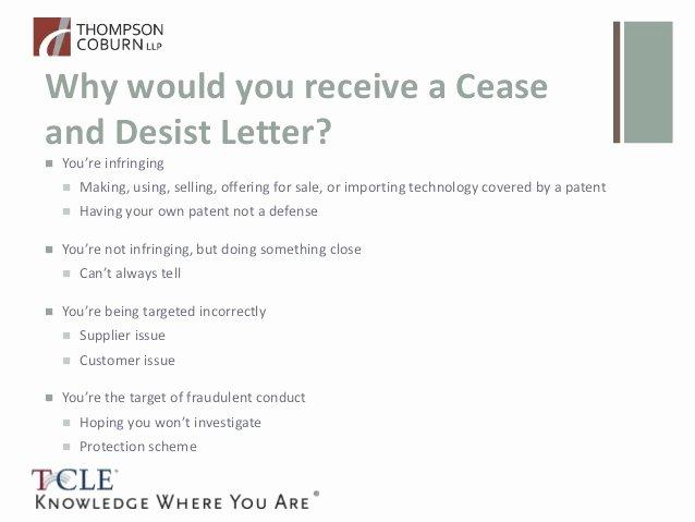 Copyright Cease and Desist Letter Unique so You Got A Patent Cease and Desist Letter now What