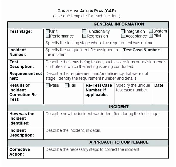Corrective Action Plan Template Excel Awesome Action Plan Template Excel Employee Action Plan