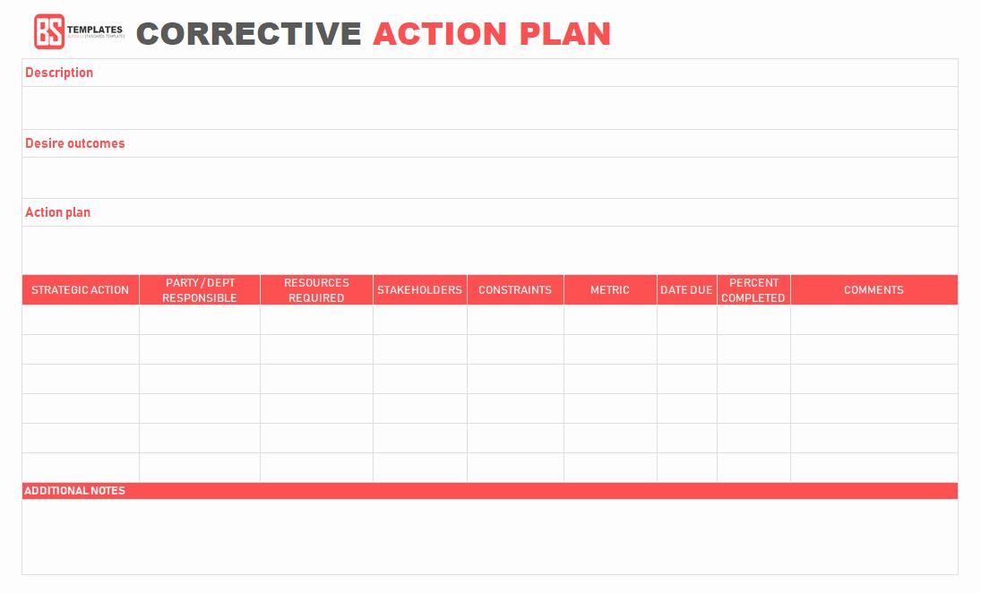 Corrective Action Plan Template Excel Inspirational Action Plan Templates – Free Templates [word