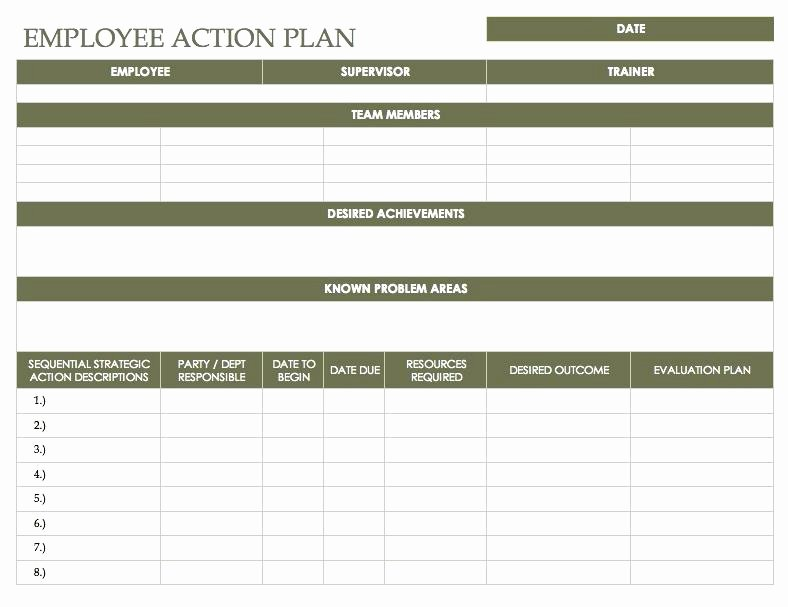 Corrective Action Plan Template Excel Inspirational Free Action Plan Templates Corrective Template Employee
