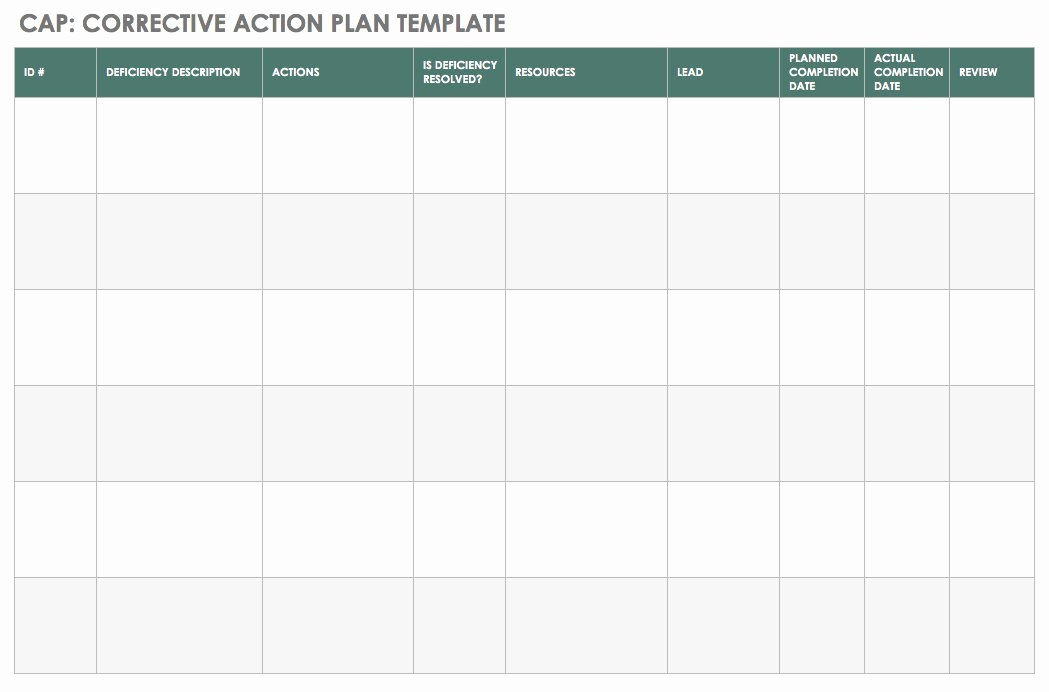 Corrective Action Plan Template Excel Unique An Introduction to Corrective Actions