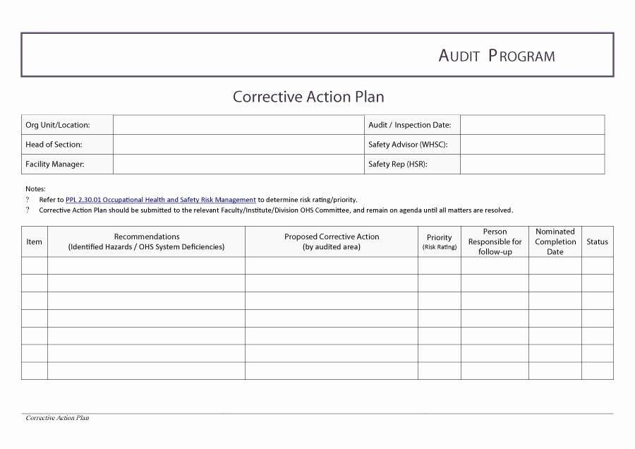 Corrective Action Plan Template Excel Unique Corrective Action Template Excel Filename – Guatemalago