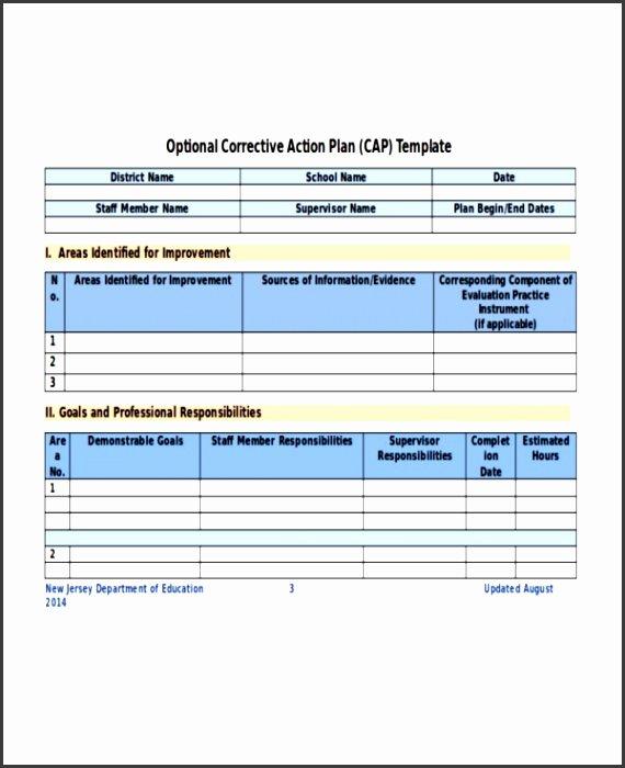 Corrective Action Plan Template Healthcare Fresh 5 Corrective Action Plan Template Sampletemplatess