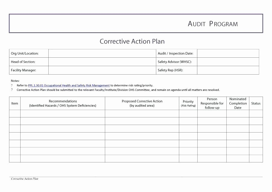 Corrective Action Plan Template Word Awesome Action Plan Template Strategic Ppt – Grnwav