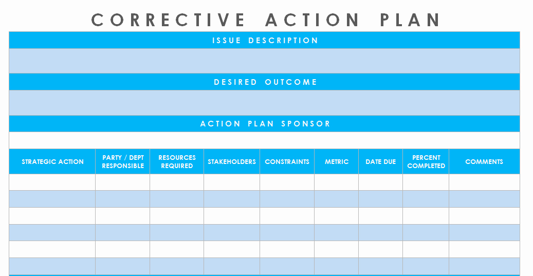 Corrective Action Plan Template Word Lovely Get Corrective Action Plan Template Excel – Microsoft