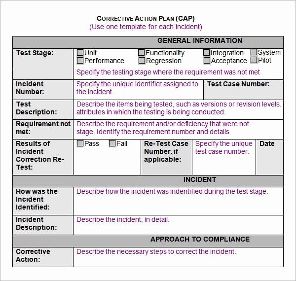 Corrective Action Plan Template Word Unique Sample Action Plan Template 15 Free Documents In Pdf
