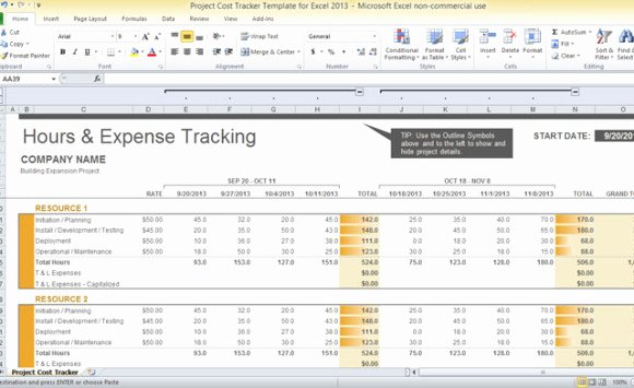 Cost Management Plan Template Awesome Project Cost Tracker Template for Excel 2013