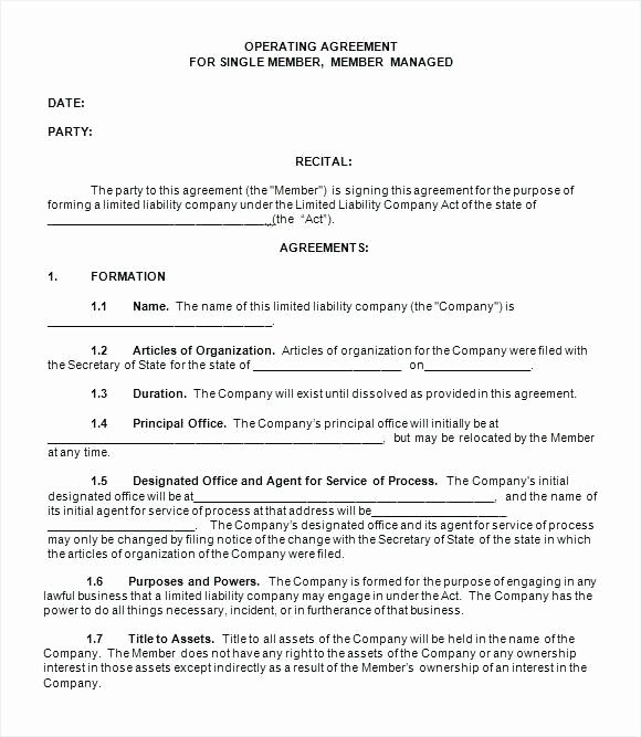 Cottage Operating Agreement Template Awesome Llc Operating Agreement