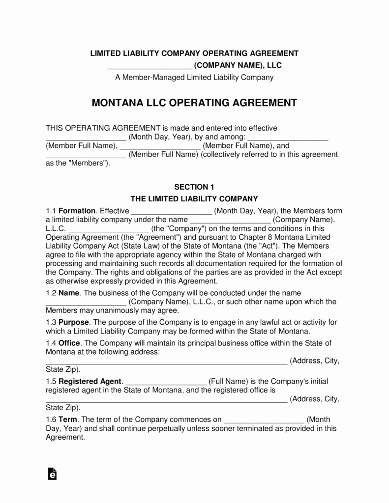 Cottage Operating Agreement Template Beautiful Ohio Multi Member Llc Operating Agreement form