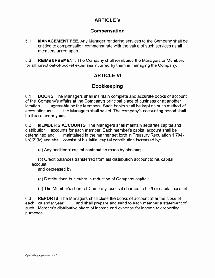 Cottage Operating Agreement Template Best Of Texas Operating