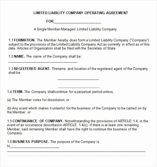 Cottage Operating Agreement Template Fresh Operating Agreement 11 Free Pdf Google Doc Apple
