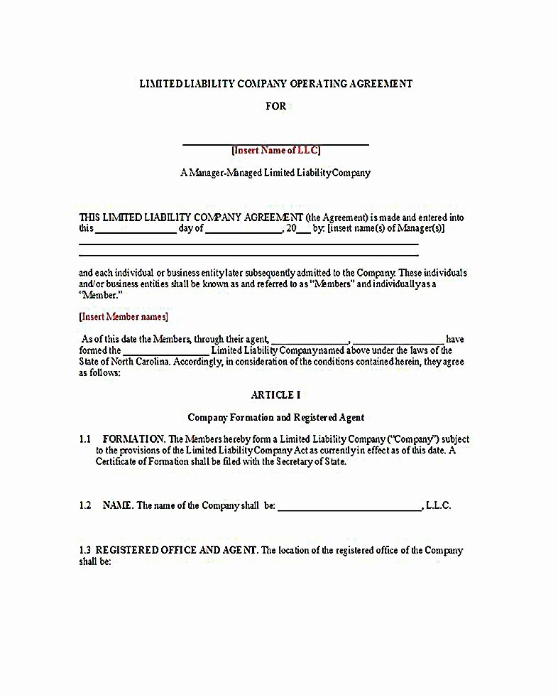 Cottage Operating Agreement Template Inspirational Sample Operating for Two Member Llc