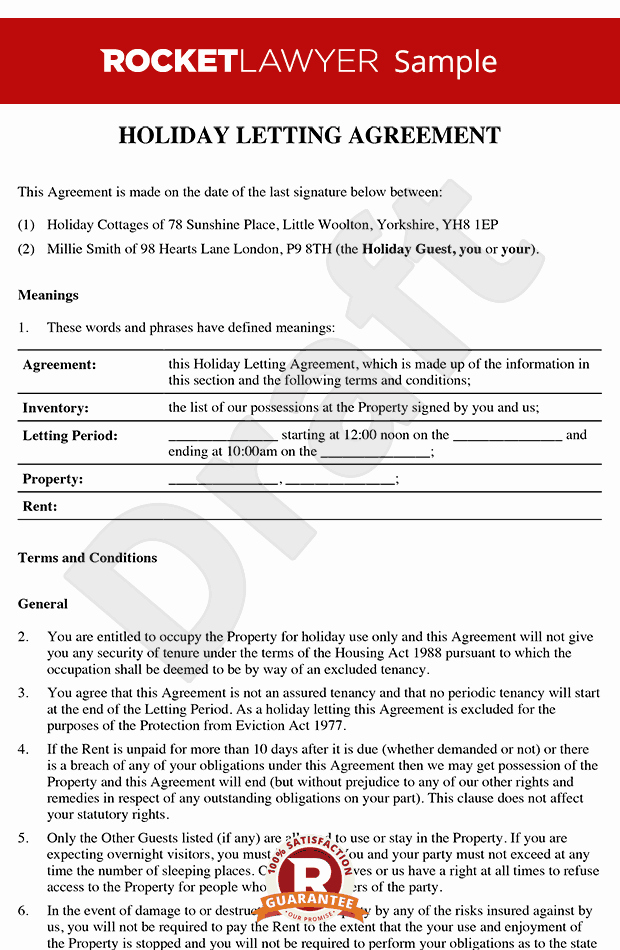 Cottage Operating Agreement Template Luxury Cottage Operating Agreement Template Free Holiday Letting