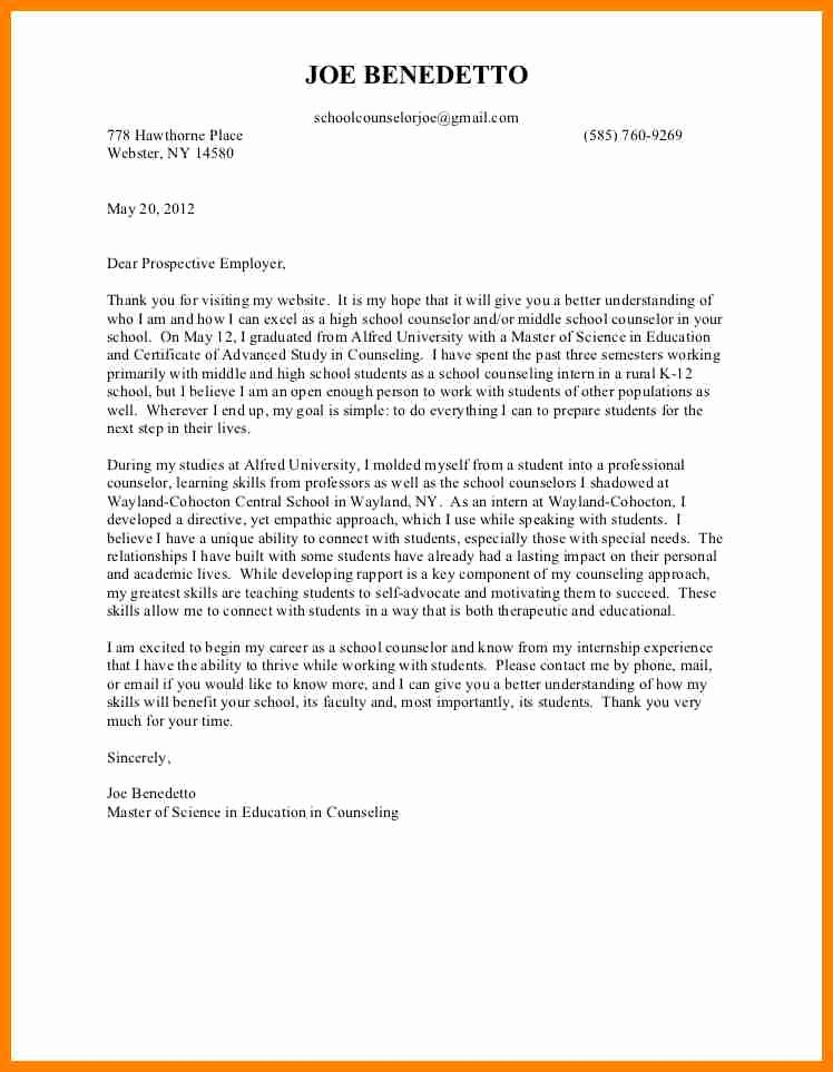 Counseling Letter Of Recommendation Awesome 6 Letter Of Re Mendation for Counselor Position