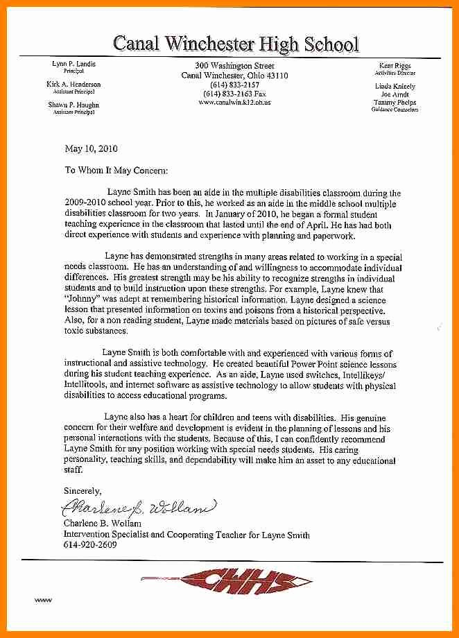 Counseling Letter Of Recommendation Beautiful 6 Letter Of Re Mendation for Counselor Position