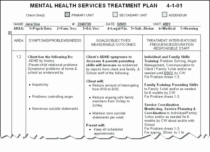 Counseling Treatment Plan Template Lovely soap Note Template Mental Health soap Note Template Mental