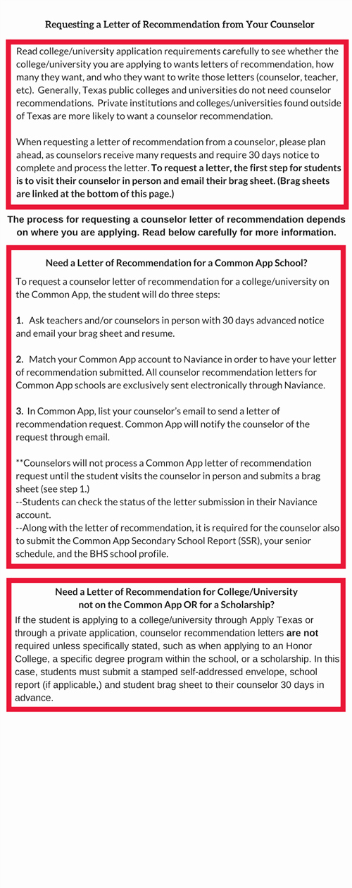 Counselor Letter Of Recommendation Luxury Counselors Requesting A Letter Of Re Mendation From
