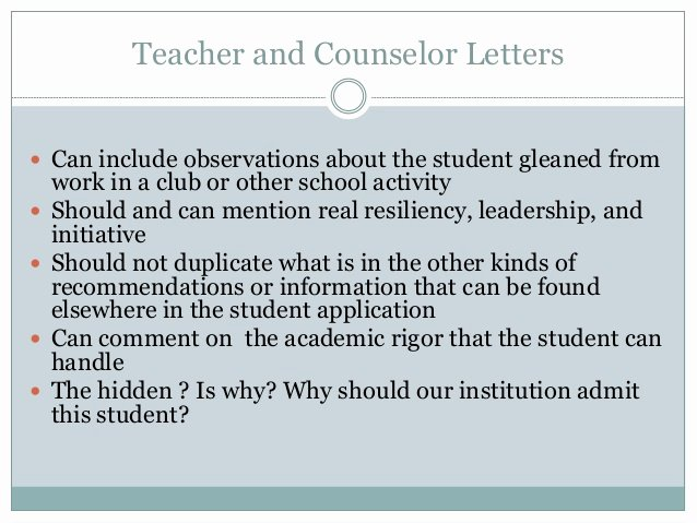 Counselor Letter Of Recommendation Luxury Tips for Writing Powerful Teacher and Counselor Letters Of